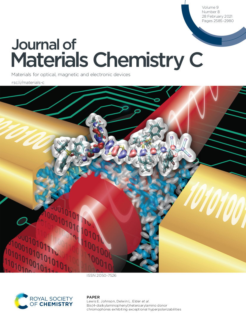 Journal of Materials Chemistry C cover with BTP7 image on it